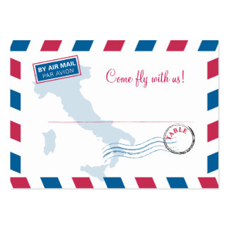 Air Mail Escort/Seating Card Wedding Large Business Cards (Pack Of 100)