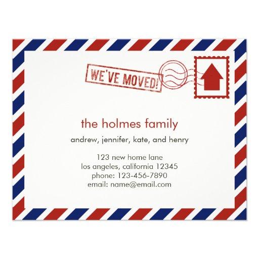 Air Mail Moving Announcement Invitation