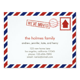 Air Mail Moving Announcement Invitation