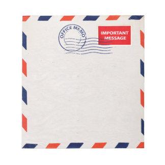 air mail office memo pad