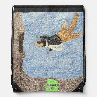 Air Mail Pilot Drawstring Bag