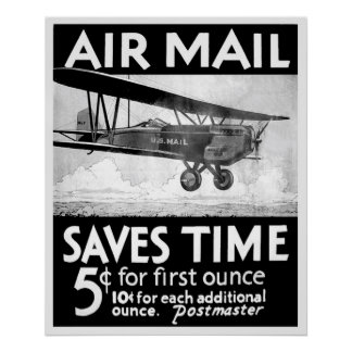 Air Mail Poster - Vintage