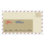 Air Mail Royal Business Card Template
