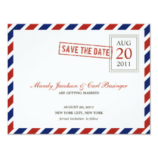 Air Mail Save The Date Announcement