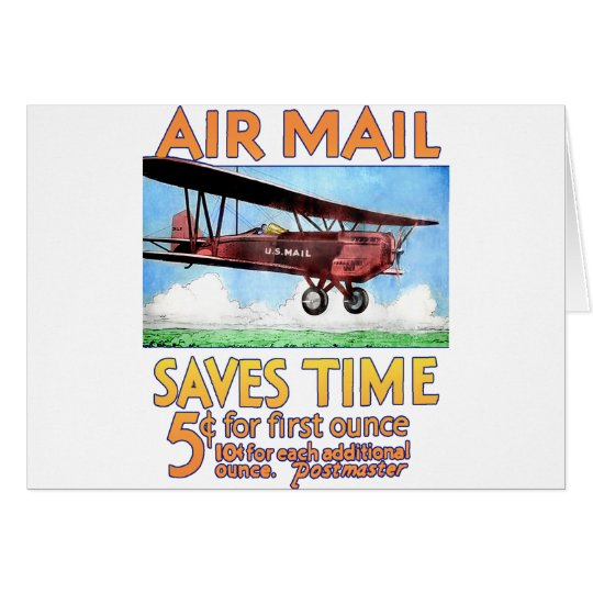 Air Mail Saves Time Card