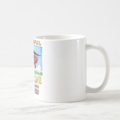 Air Mail Saves Time Classic White Coffee Mug