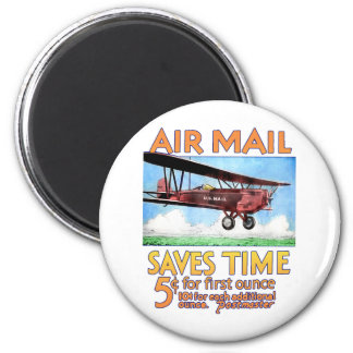 Air Mail Saves Time Magnets