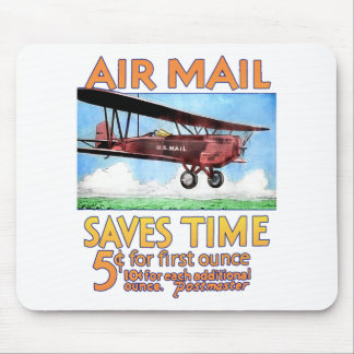 Air Mail Saves Time Mouse Pad