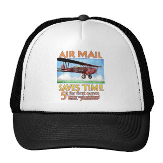 Air Mail Saves Time Trucker Hat