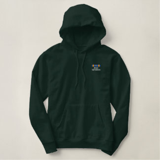 Air Medal with V for Iraq Embroidered Hoodie
