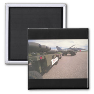 Air-missiles._Military Aircraft 2 Inch Square Magnet