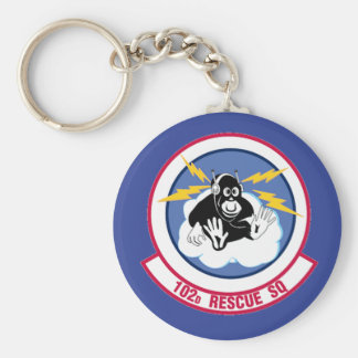 Air National Guard 102nd Rescue Squadron Basic Round Button Keychain