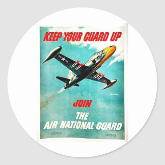 Air National Guard Classic Round Sticker