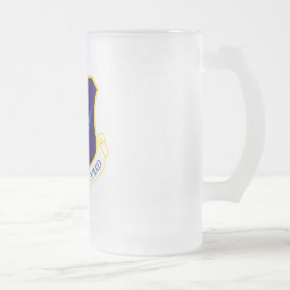 Air National Guard Frosted Glass Beer Mug