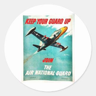 Air National Guard Classic Round Sticker