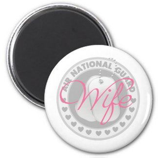 Air National Guard Wife 2 Inch Round Magnet