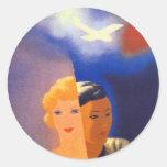 Air Orient ~ Europe - Orient Classic Round Sticker