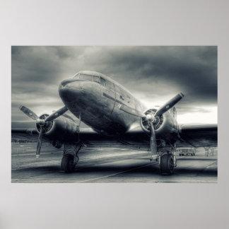 Air Plane Aviation Dakota DC-3 Poster