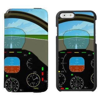Air Plane Cockpit iPhone 6/6s Wallet Case