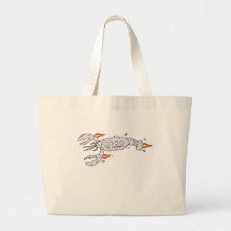 Air plane lobster large tote bag