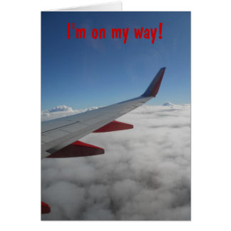 Air plane wing and sky card