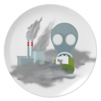 Air Pollution Melamine Plate