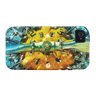 Air Power - Vintage race Airplane's motor and Prop iPhone 4 Case