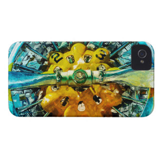 Air Power - Vintage race Airplane's motor and Prop iPhone 4 Case-Mate Cases