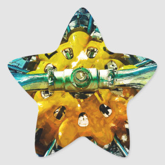 Air Power - Vintage race Airplane's motor and Prop Star Stickers