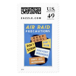 Air Raid Precautions 1941 WPA Stamps