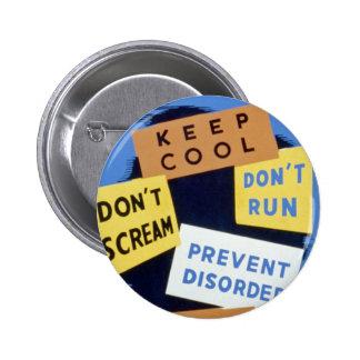 Air raid precautions sign (1943) button