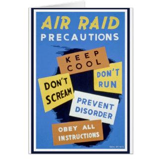 Air raid precautions sign (1943) card