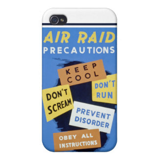 Air raid precautions sign (1943) case