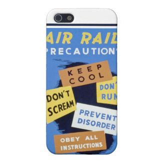 Air raid precautions sign (1943) case iPhone 5 cover