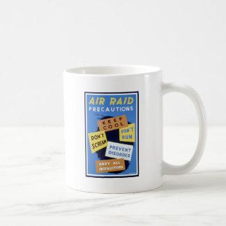 Air raid precautions sign (1943) coffee mug