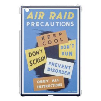 Air raid precautions sign (1943) iPad mini case