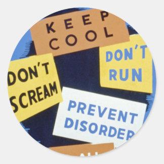 Air raid precautions sign (1943) sticker
