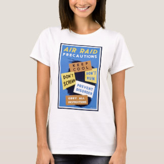 Air raid precautions sign (1943) T-Shirt