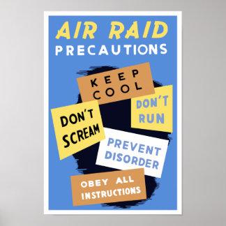 Air Raid Precautions -- WWII Poster