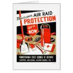 Air Raid Protection 1943 WPA Card