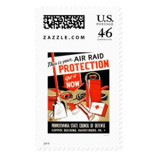 Air Raid Protection 1943 WPA Postage