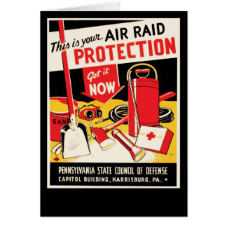 Air Raid Protection Card