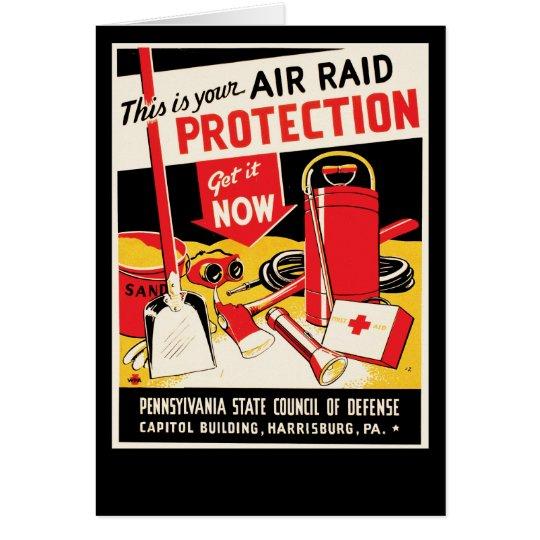 Air Raid Protection Card
