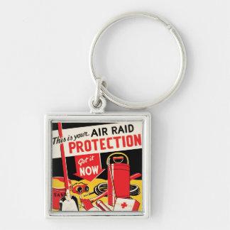 Air Raid Protection Keychain