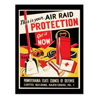 Air Raid Protection Postcard