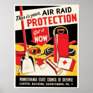 Air Raid Protection Poster