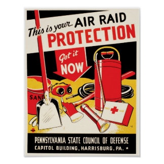 Air Raid Protection Posters