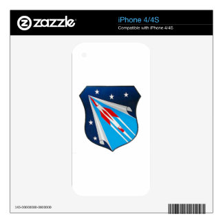 Air Research and Development Command Emblem Decals For iPhone 4
