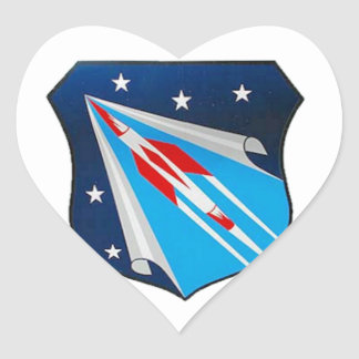 Air Research and Development Command Emblem Heart Sticker