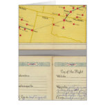 Air Route from Los Angeles to Columbus Card